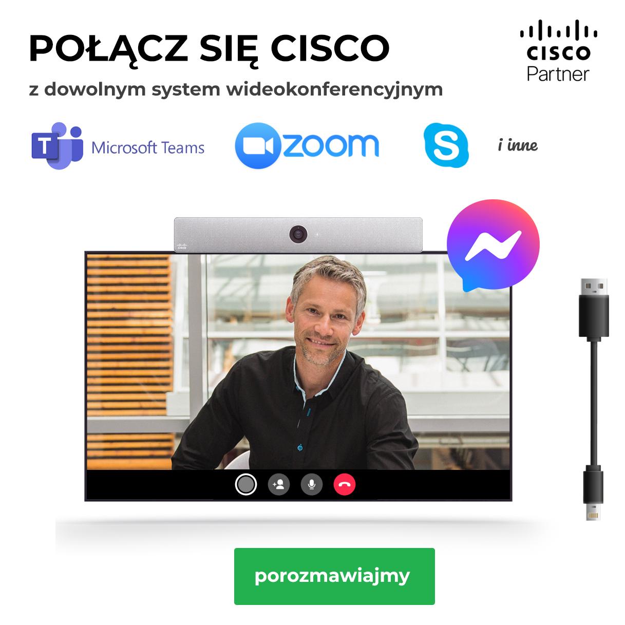 Cisco na USB - połącz się z każdą platformą do wideokonferencji