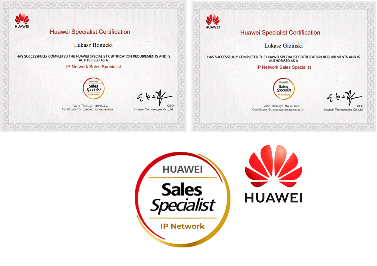Huawei IP Network Sales Specialist dla Network Expert