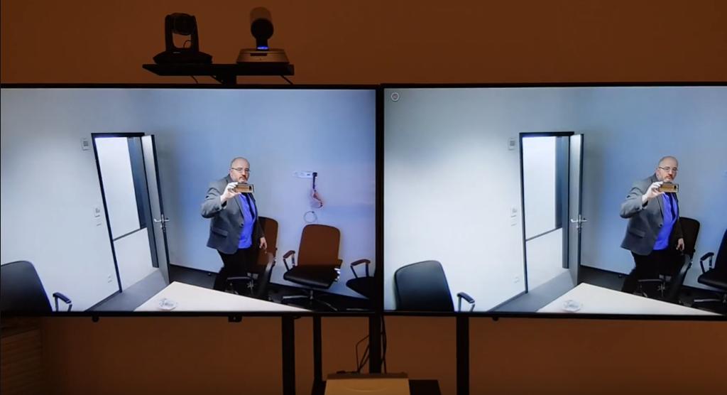 Kamera śledząca mówcę zintegrowana z terminalem Aver