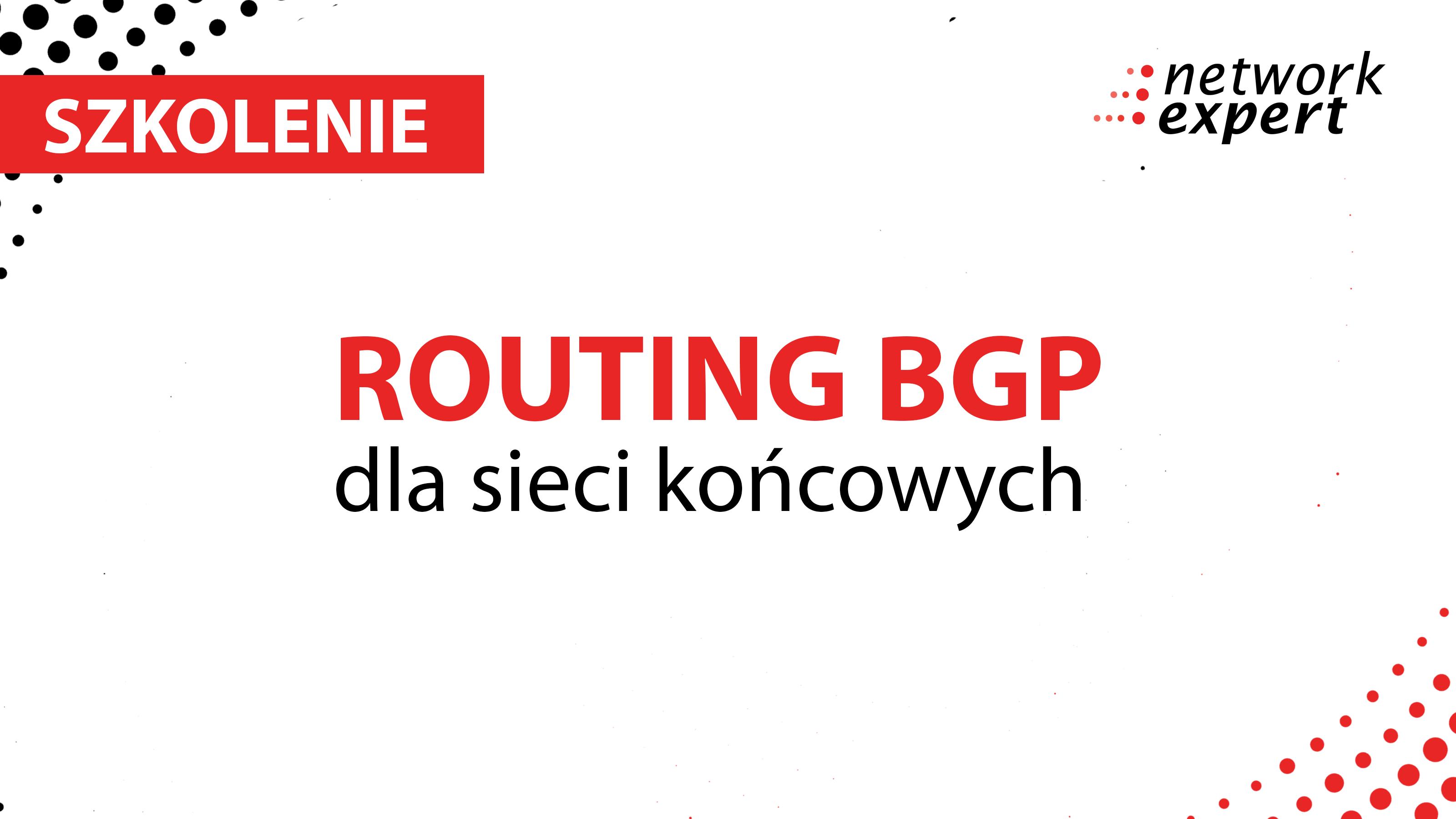 Szkolenie z zakresu routing bgp dla sieci końcowych
