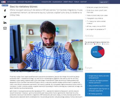 Sieci to niełatwy biznes - wypowiedź Piotra Szafrana w artykule CRN
