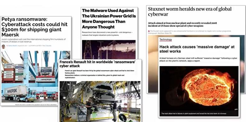 Ataki na sieci przemysłowe