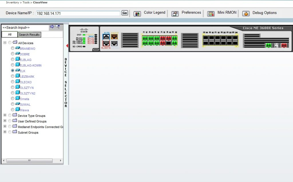 Zarządzanie urządzeniami zpoziomu konsoli pojedynczego urządzenia