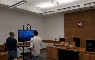 Wdrożenie zestawu wideokonferencyjnego dla sądu