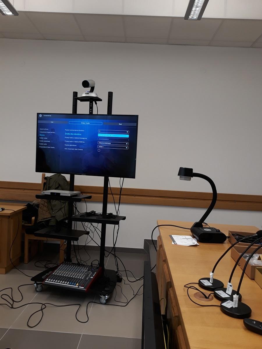 Zestaw wideokonferencyjny - telewizor
